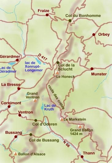 Carte Randonnee Alsace.Circuits De Randonnees Dans Les Vosges